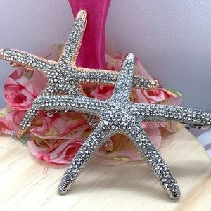 Crystal Starfish Hair Clip